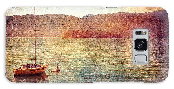 Boat On Lake Maggiore Galaxy Case