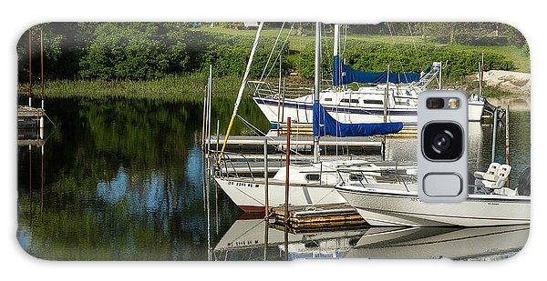 Boat Reflections In Cape Cod Hen Cove Galaxy Case by Eleanor Abramson