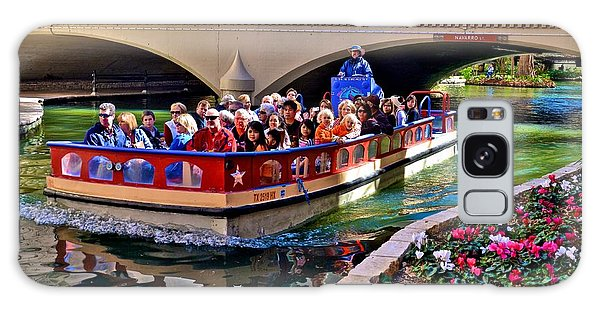 Boat Ride At The Riverwalk Galaxy Case