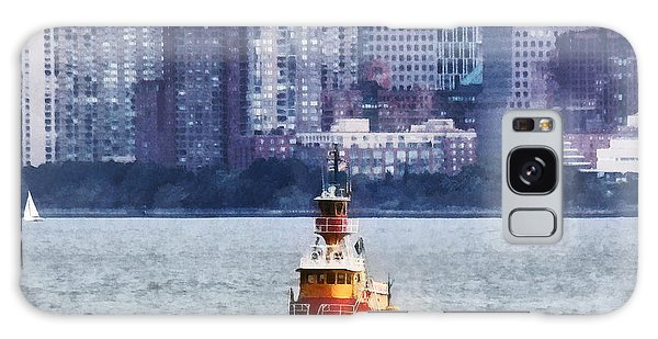 Boat - Tugboat By Manhattan Skyline Galaxy Case