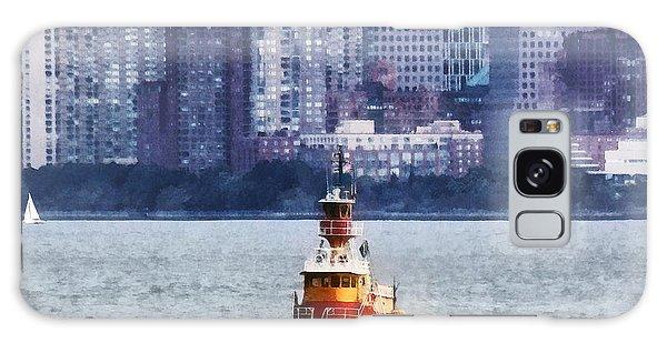 Boat - Tugboat By Manhattan Skyline Galaxy Case