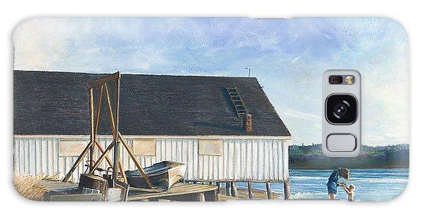 Boathouse At Lisabuela Beach Galaxy Case