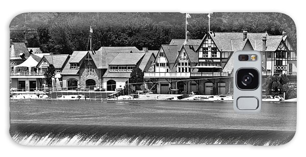 Boathouse Row - Bw Galaxy Case