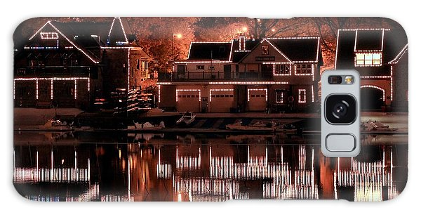 Boathouse Row Reflection Galaxy Case