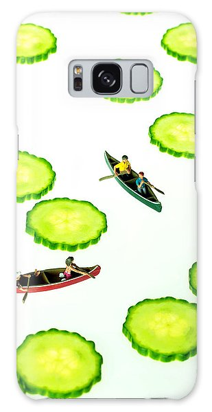 Boating Among Cucumber Slices Miniature Art Galaxy Case