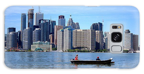 Boating By The Big City Galaxy Case