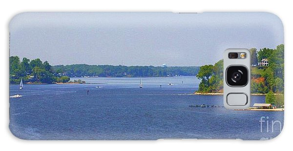 Boating On The Severn River Galaxy Case by Patti Whitten