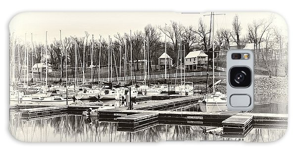 Boats And Cottages In B/w Galaxy Case