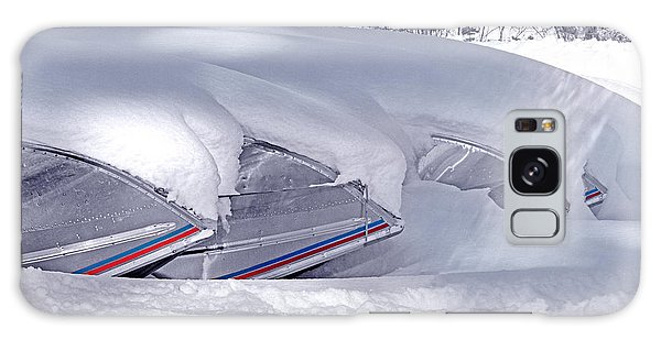 Boats And Snowdrift Galaxy Case