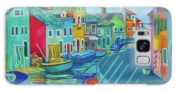 Boats At Burano Galaxy Case