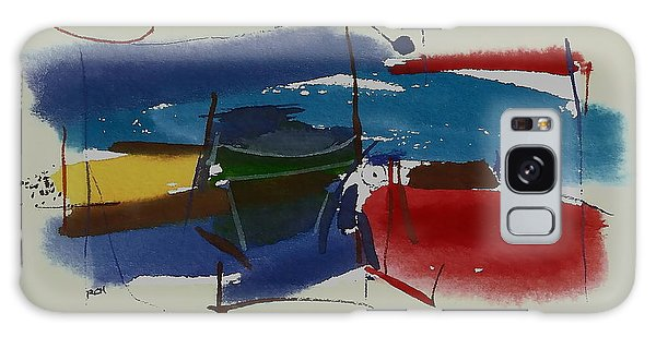 Boats At Dock Galaxy Case by Richard Hinger