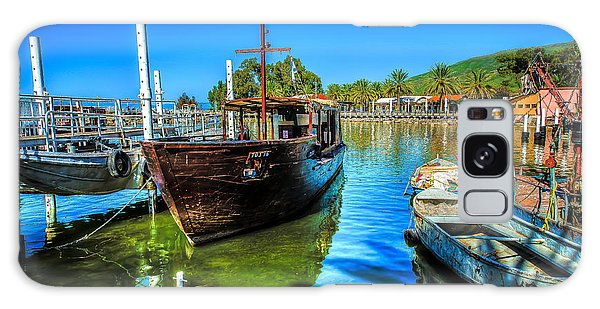 Boats At Kibbutz On Sea Galilee Galaxy Case