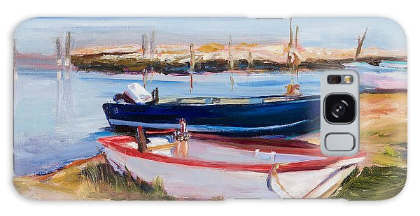 Galaxy Case - Boats At Lake Tresimeno by Jane Woodward