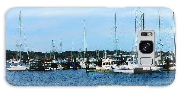 Boats At Newport Ri Galaxy Case by Susan Savad