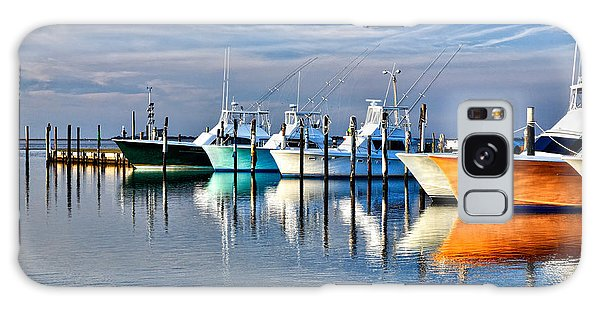 Boats At Oregon Inlet Outer Banks I Galaxy Case