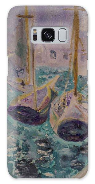 Boats At Sea Galaxy Case by Aleezah Selinger