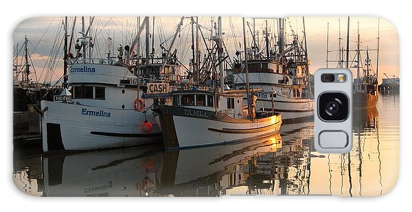 Boats At Steveston Harbour  Galaxy Case by Shirley Sirois