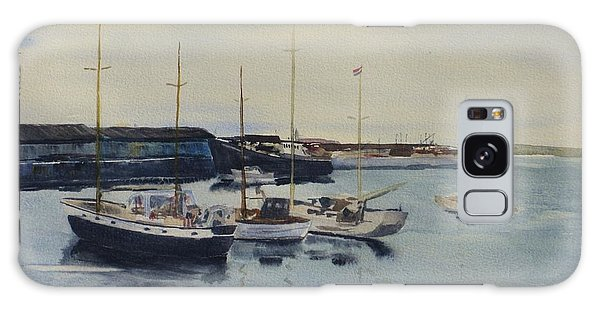 Boats In A Harbour Galaxy Case