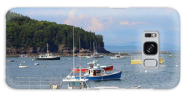 Boats In Bar Harbor Galaxy Case