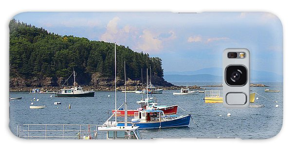 Boats In Bar Harbor Galaxy Case