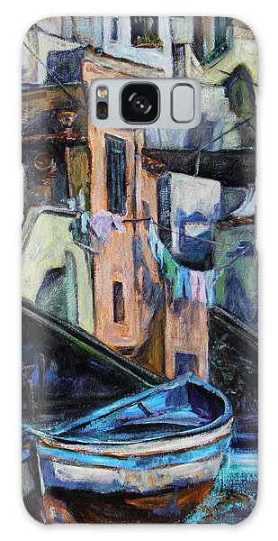 Boats In Front Of The Buildings I  Galaxy Case by Xueling Zou