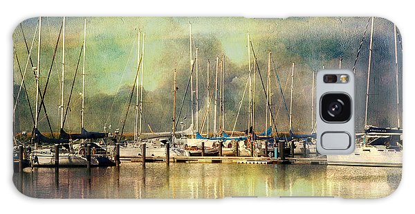 Boats In Harbour Galaxy Case