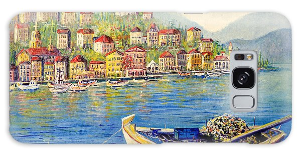 Boats In Italy Galaxy Case by Lou Ann Bagnall