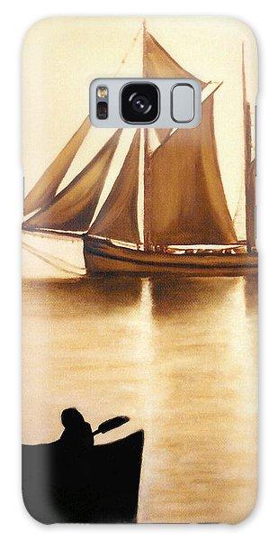 Boats In Sun Light Galaxy Case by Janice Dunbar