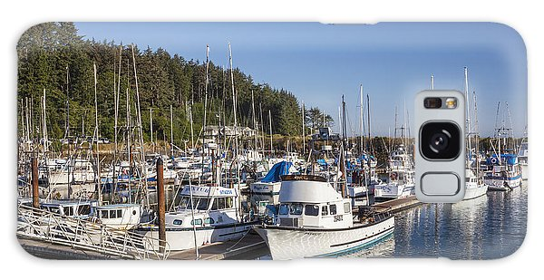 Boats Moored At Charleston Marina Galaxy Case