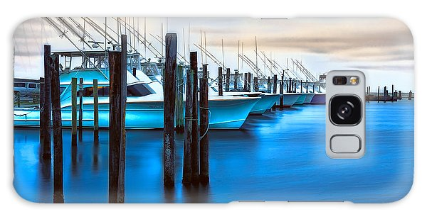 Boats On Glass II - Outer Banks Galaxy Case by Dan Carmichael