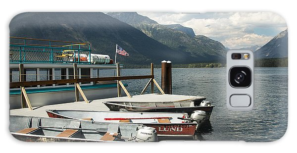 Boats On Lake Mcdonald Galaxy Case