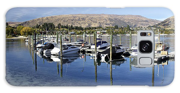 Boats On Lake Wanaka Galaxy Case by Venetia Featherstone-Witty