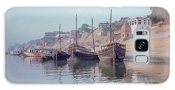 Boats On The Ganges River Galaxy Case