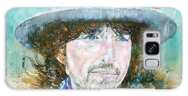 Bob Dylan Oil Portrait Galaxy Case