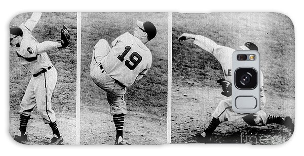 Bob Feller Pitching Galaxy Case