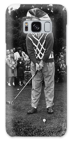 Bob Hope At Bing Crosby National Pro-am Golf Championship  Pebble Beach Circa 1955 Galaxy Case