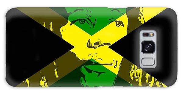 Song Birds Galaxy Case - Bob Marley On Jamaican Flag by Dan Sproul