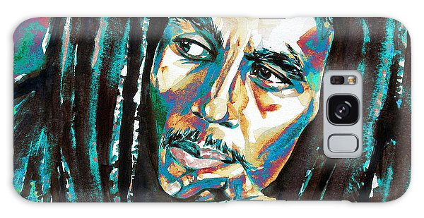Bob Marley Watercolor Portrait.7 Galaxy Case