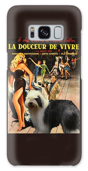 Bobtail -  Old English Sheepdog Art Canvas Print - La Dolce Vita Movie Poster Galaxy Case