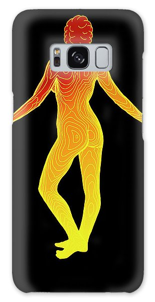 Contour Galaxy Case - Body Contour Map Of Woman In Posterior View by Dr Robin Williams/science Photo Library