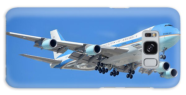 Air Force One Boeing Vc-25a 92-9000 Landing Phoenix Sky Harbor March 13 2015 Galaxy Case