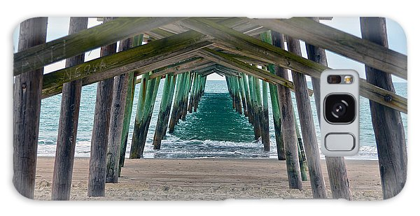 Bogue Banks Fishing Pier Galaxy Case