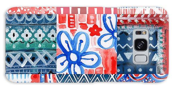 Americana Galaxy Case - Boho Americana- Patchwork Painting by Linda Woods