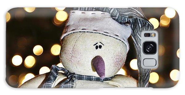 Bokeh Snowman Galaxy Case
