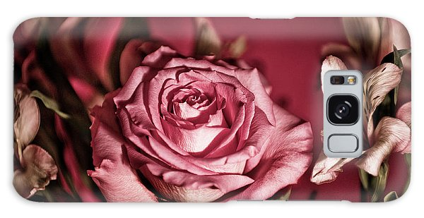 Bold Pink Rose Bouquet Galaxy Case by Linda Matlow