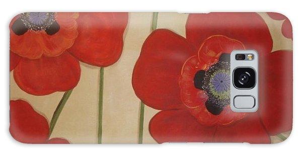 Bold Poppies Galaxy Case