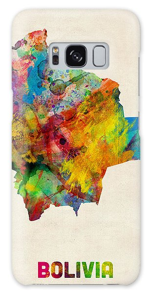 Bolivia Watercolor Map Galaxy Case