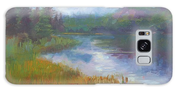 Bonnie Lake - Alaska Misty Landscape Galaxy Case