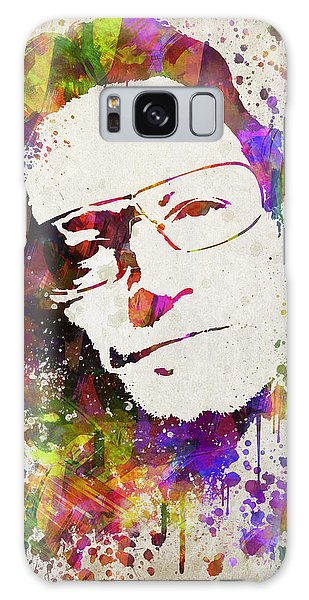 U2 Galaxy Case - Bono In Color by Aged Pixel