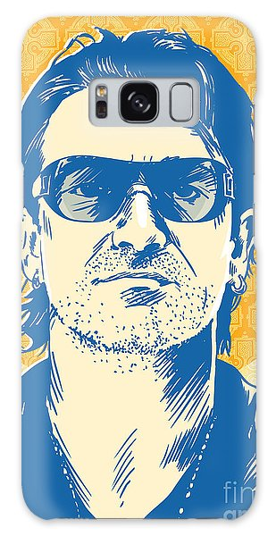 U2 Galaxy Case - Bono Pop Art by Jim Zahniser